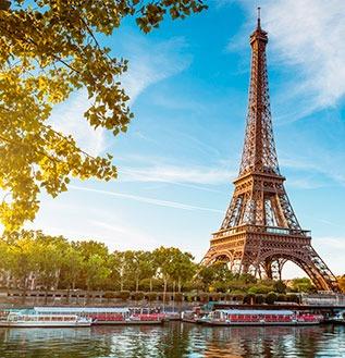 París, Portugal e Espanha