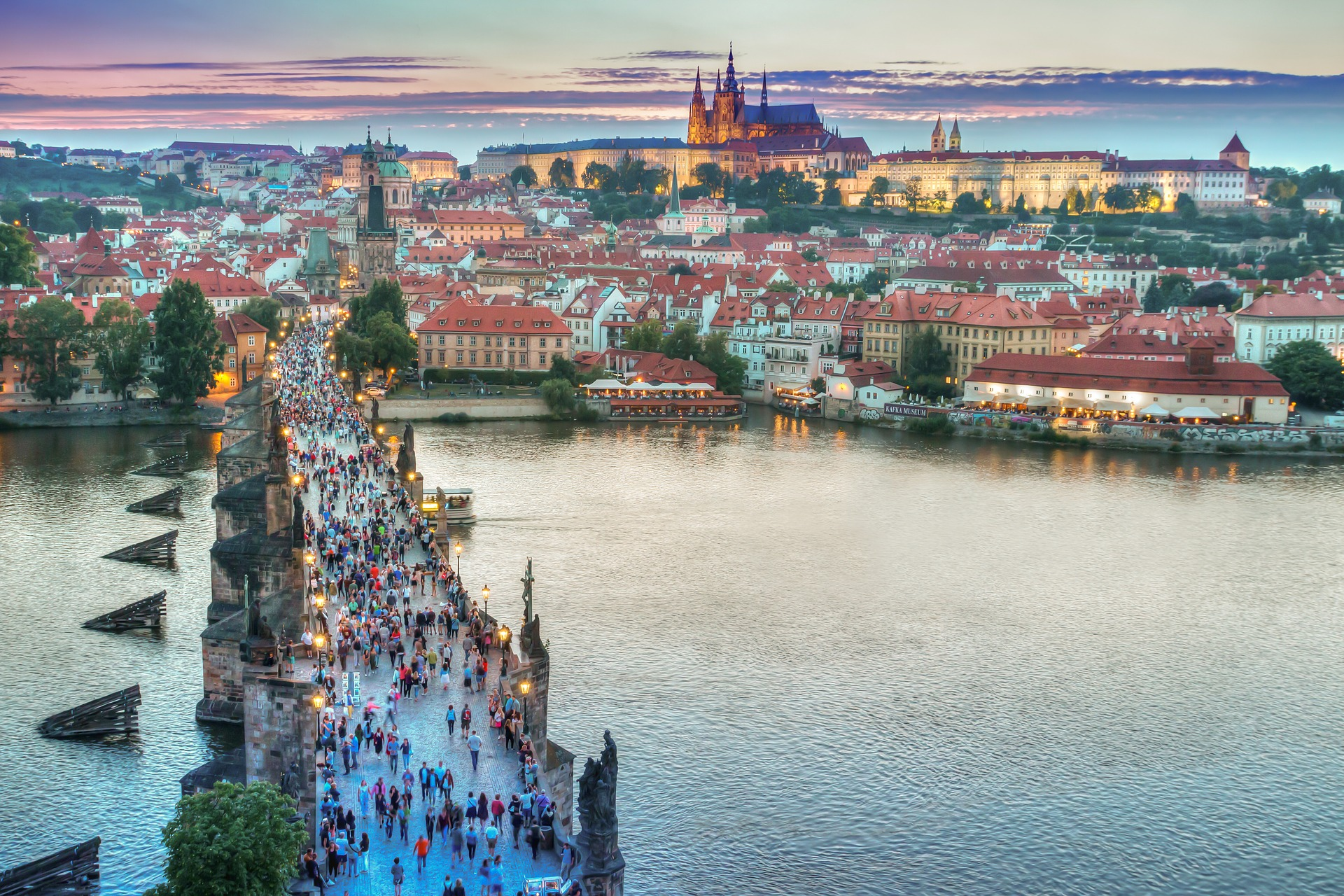 Vista aérea da cidade de Praga